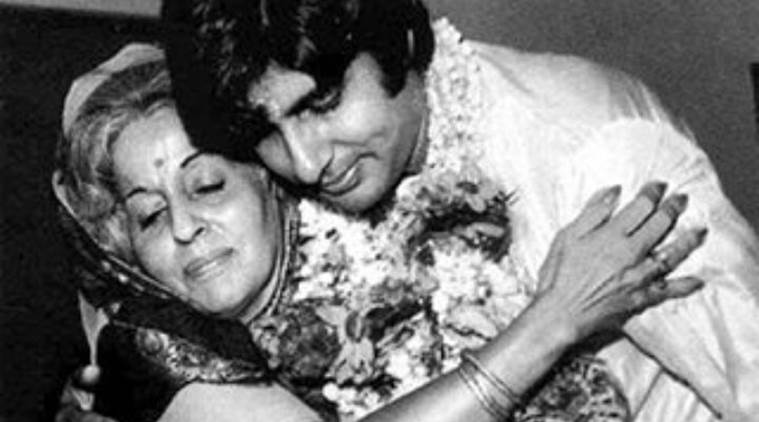 amitabh with mother