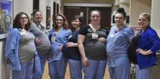 _9 nurses became pregnant together