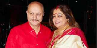 anupam kher with wife