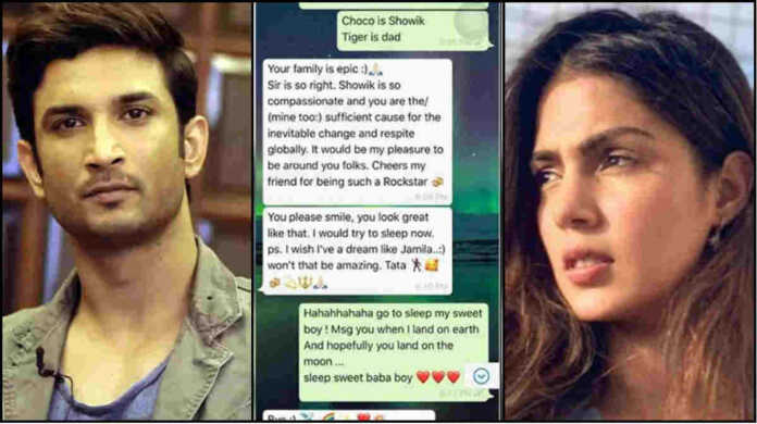 Rhea chakraborty shares fake whatsapp chat