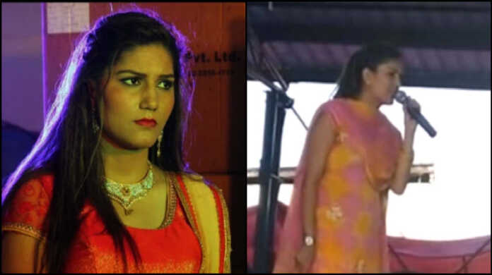 sapna chaudhary crying live stage show