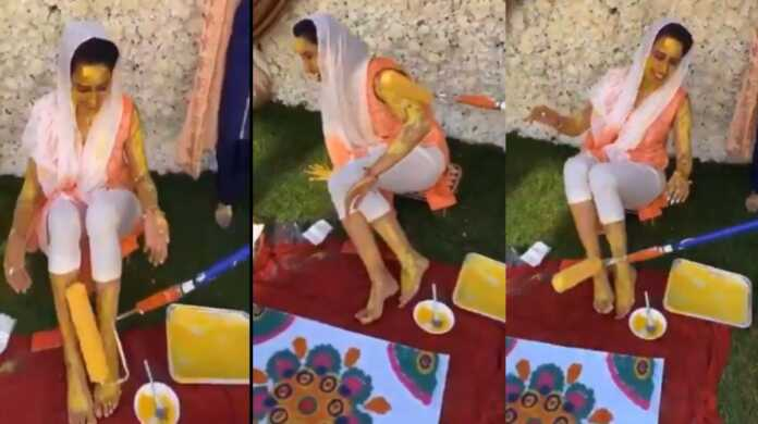Bride Haldi Ceremony viral Video
