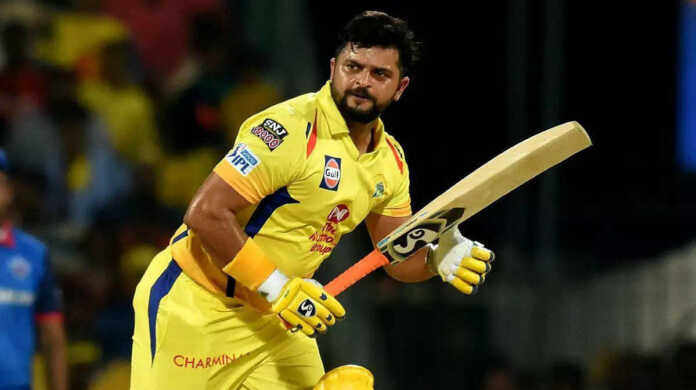 Suresh raina name remove CSK website
