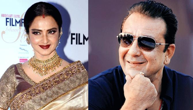 sanjay dutt and rekha